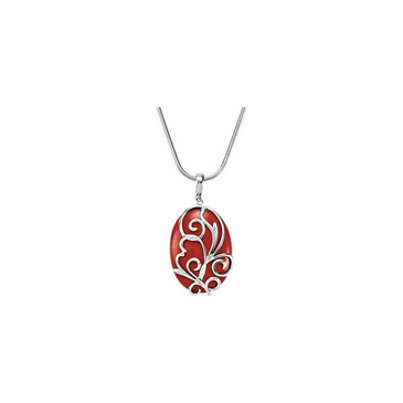 Swish Red Jasper Pendant Enhancer