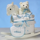 Teddy Bear & Rocking Chair For Boy (Personalized)  Price: $198.00