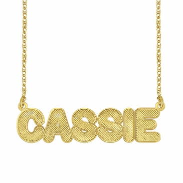 Textured Nameplate Necklace