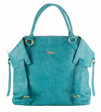 The Charlie II Tote Diaper Bag by Timi & Leslie - Teal