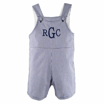 The Hamptons Gingham Romper in Navy Blue