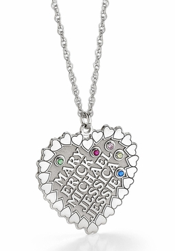 """""""The Heart of the Family"""" Birthstone Necklace - Personalized"""
