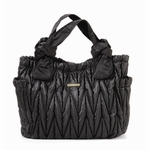 The Marie Antoinette II Tote Diaper Bag by Timi & Leslie - Black
