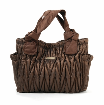 The Marie Antoinette II Tote Diaper Bag by Timi & Leslie - Bronze