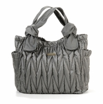 The Marie Antoinette II Tote Diaper Bag by Timi & Leslie - Silver