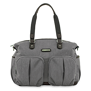 Timi & Leslie Jet Setter London Tote Diaper Bag - Grey