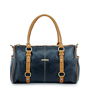 Timi & Leslie Madison Black/Saddle Diaper Bag