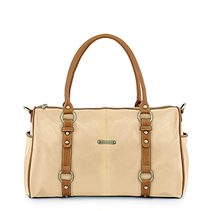 Timi & Leslie Madison Sand/Saddle Diaper Bag