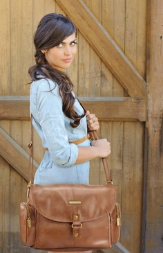 Timi & Leslie Metro Messenger Barcelona Diaper Bag - Brown