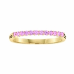 Tiny Multiple Birthstone Narrow Personalized Gold Ring - with Genuine Stones