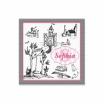 "Toile Canvas Wall Art Personalized - 15"" x 15"""
