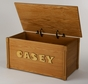 Toy Chest with Maple Wooden Letters (Personalized) - click to Enlarge