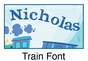 "Train Canvas Wall Art Personalized - 10"" x 24"" - click to Enlarge"