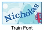 """Train Canvas Wall Art Personalized - 15"""" x 15"""" - click to Enlarge"""