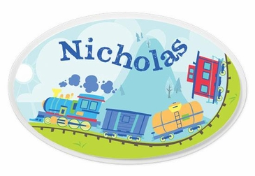Train Oval Wall Plaque Personalized