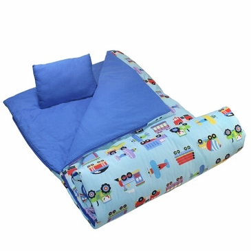Trains, Planes & Trucks Kids Sleeping Bag