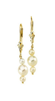 Triple Refined Pearl Earrings