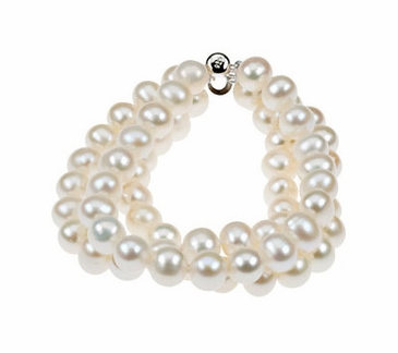 Triple Strand Natural Beaded Bracelet