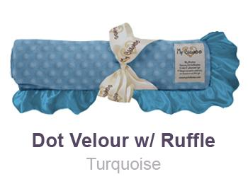 Turquoise-Dot-Velour-with-Ruffle-Trim-Blanket-by-My-Blankee