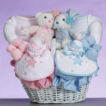 Two Cute! Gift Basket for Twins