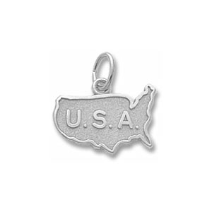 USA Map Charm by Forever Charms - Personalized
