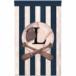 Vintage Baseball Wall Hanging Personalized by Dish and Spoon