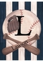 Vintage Baseball Wall Hanging Personalized by Dish and Spoon - click to Enlarge