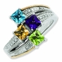 Vintage Journey Family Ring with Diamonds - click to Enlarge