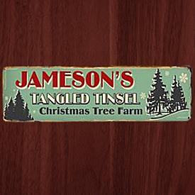 Vintage Metal Holiday Signs