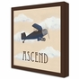 Vintage Plane I Stretched Art Personalized by Dish and Spoon - click to Enlarge