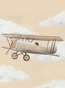 Vintage Plane III Stretched Art Personalized by Dish and Spoon - click to Enlarge