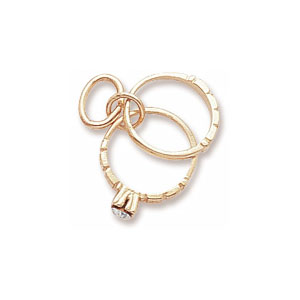 Wedding Rings Charm By Forever Charms