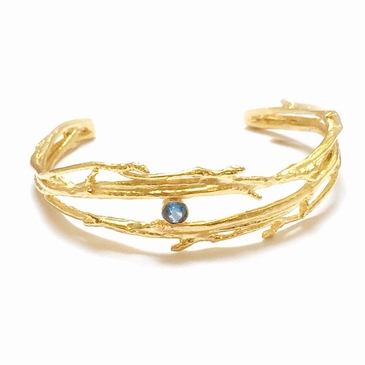 Wooden Branch Birthstone Bracelet
