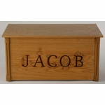 Wooden Toy Chest w/ Theme Letters (Personalized)