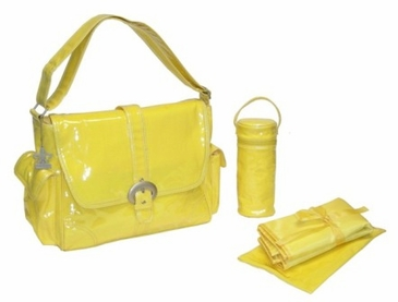 Yellow Corduroy - Laminated Buckle Diaper Bag by Kalencom