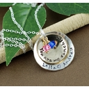 You Are My Sunshine Double Curved Charms Necklace