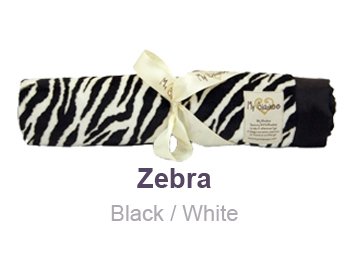 Zebra Black White Animal Print Velour Blanket by My Blankee