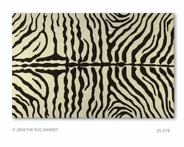 Zebra Brown Hook Rug