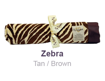 Zebra Tan Brown Animal Print Velour Blanket by My Blankee