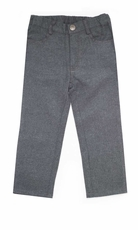 Boys Charcoal Brush Flannel Pant