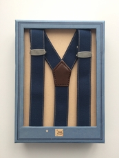 Boys Navy Suspenders with Clips