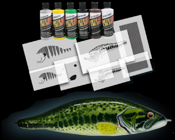 Harley airbrush stencils related keywords harley for Airbrushing fishing lures