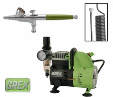 Grex Combo Kit with XN Airbrush & AC1810 Compressor