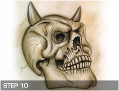 Harder Steenbeck 'Skull Set' Stencils with Step by Step Instructions
