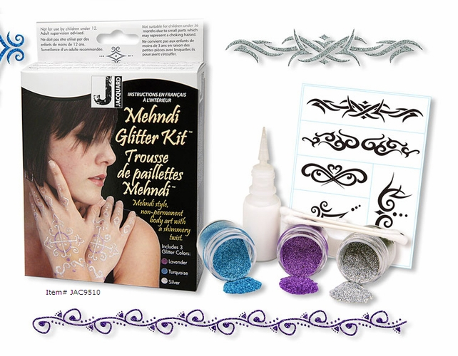 Mehndi Henna Kit Price : Jacquard mehndi and henna body art kits