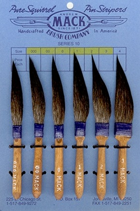 Mack Series 10 Pinstriping Brushes