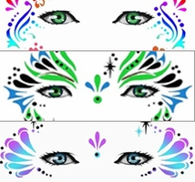 Mehron Face and Body-Art Airbrush Stencils