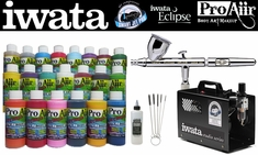 ProAiir Hybrid Deluxe Kit with Iwata Eclipse CS Airbrush & Smart Jet Pro Compressor