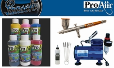 ProAiir Hybrid Intro Kit with Paasche Talon Airbrush & D500SR Compressor