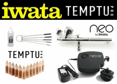 Airbrush Makeup Kit with Iwata Neo CN Airbrush and Neo Air Compressor